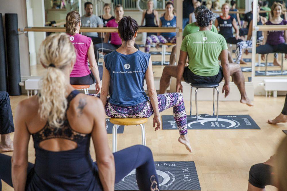 Teaching chair yoga with Garuda
